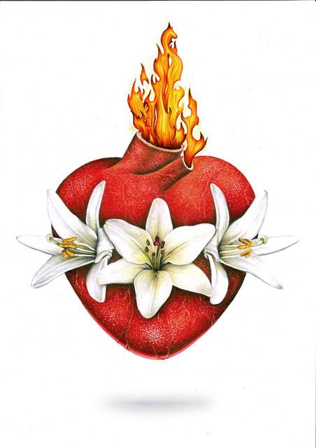 Imagen Oficial del Casto y Amante Corazón de San José