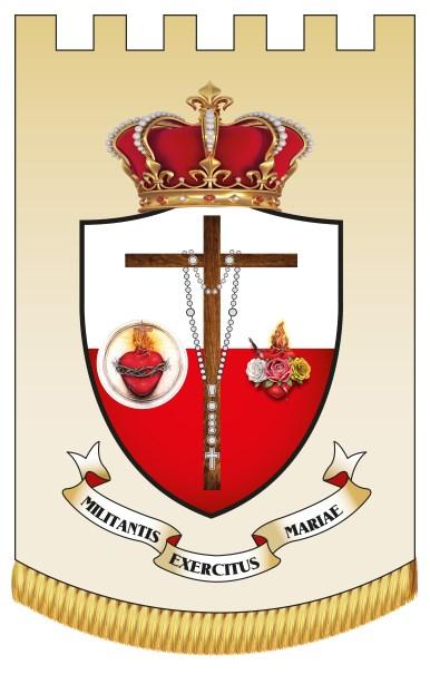 Estandarte de los Apóstoles de los Últimos Tiempos o del Ejército Mariano