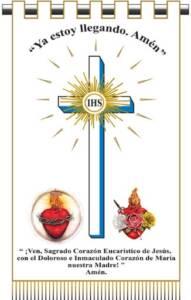 Estandarte del Triunfo y del Reinado de los Sagrados Corazones de Jesús y de María