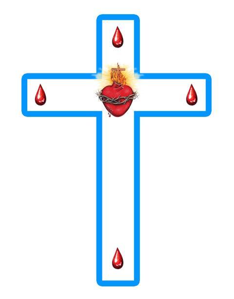 Escapulario del Apostolado de los Sagrados Corazones (parte Frontal)