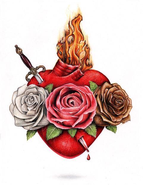 Imagen Oficial del Corazón Doloroso e Inmaculado de María