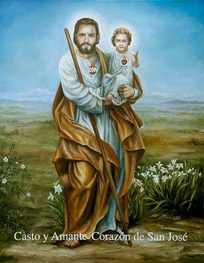 Ícono Oficial del Casto y Amante Corazón de San José