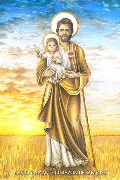 Casto y Amante Corazón San José
